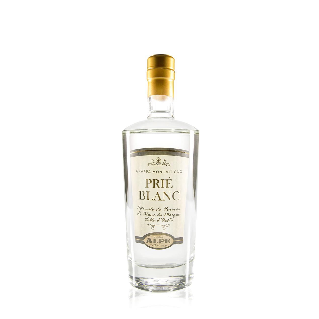 Grappa Monovitigno Prié Blanc